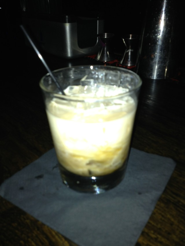 "this is called a ""Gringo"", it is basically a White Russian with aged Tequila...sounds gross...is amazing"