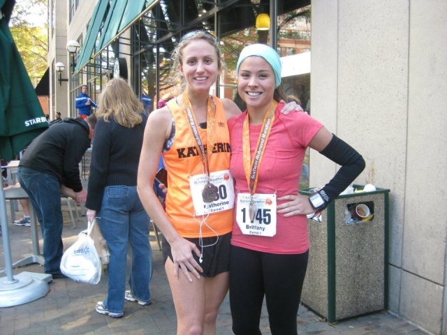 Post marathon, I am so proud of us for both finishing this thing!!!