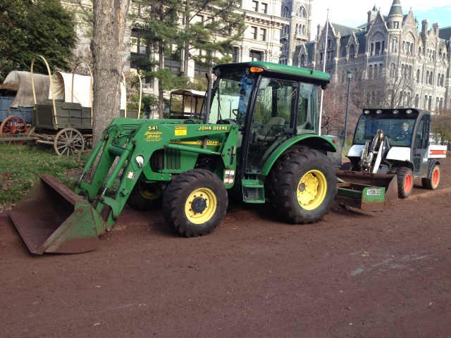 tractors are there to ensure all the pavement is covered