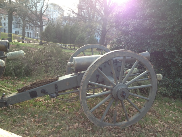 just a canon in the middle of richmond...as one does