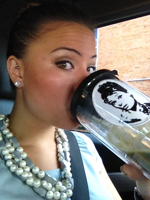 enroute to work! (special thanks to Aunt Vicky, Uncle Don, and Cousin Tyler for my cute cup)